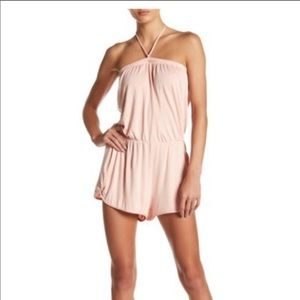 Lucky Brand Take Cover Blush Romper NWT